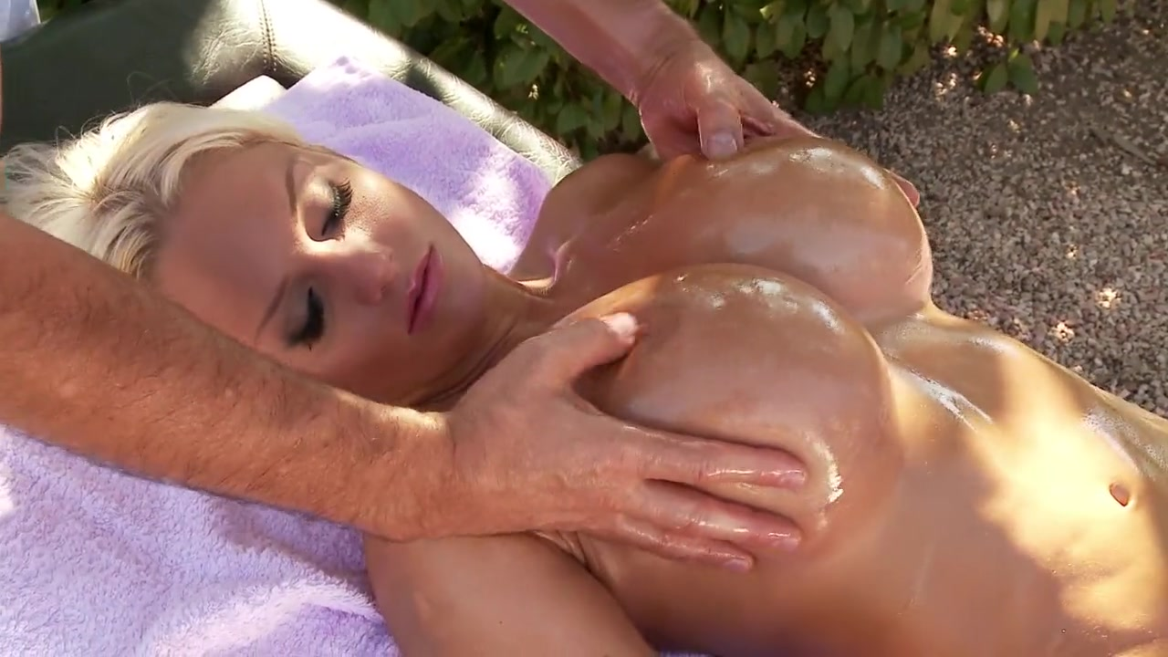 stimulating nude breast massage