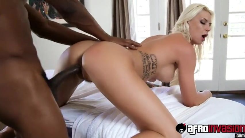 Black on blonde porn