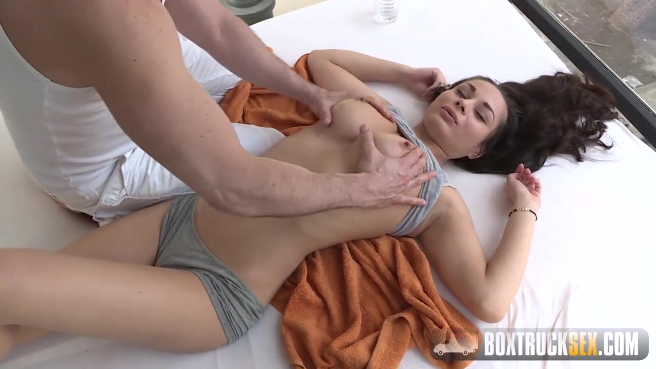 Takes teases her out brunette tits busty and something is. Thanks